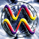 Aquarius do sinal da astrologia Foto de Stock Royalty Free