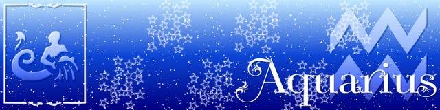 Aquarius do zodíaco da bandeira Foto de Stock