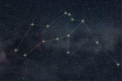 Aquarius gwiazdozbiór Zodiaka Aquarius gwiazdozbioru Szyldowe linie Fotografia Royalty Free