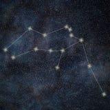 Aquarius gwiazdozbiór Zodiaka Aquarius Szyldowy gwiazdozbiór Obraz Royalty Free