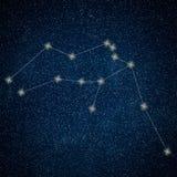 Aquarius gwiazdozbiór Zodiaka Aquarius Szyldowy gwiazdozbiór Obrazy Stock