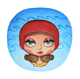 Aquarius, illustration of horoscope, zodiac sign Royalty Free Stock Photography