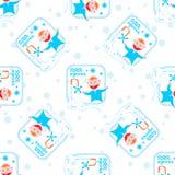 Aquarius seamless pattern Royalty Free Stock Photo