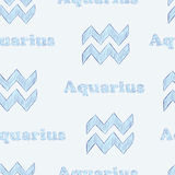 Aquarius seamless Royalty Free Stock Photography