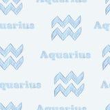 Aquarius seamless Royalty Free Stock Photography