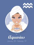 Aquarius sign vector. Female aquarius sign vector  illustration Royalty Free Stock Image