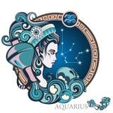 aquarius Sinal do zodíaco ilustração royalty free