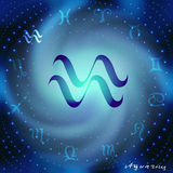 Aquarius symbol Fotografia Royalty Free