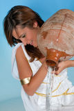 Aquarius woman Stock Photography
