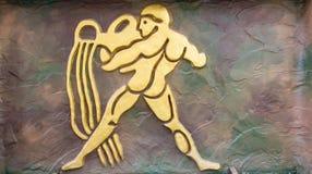 Aquarius znak Zdjęcie Royalty Free