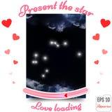 Aquarius Zodiac sign. Aquarius Horoscope constellation, stars. P Stock Image
