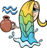 Aquarius zodiac sign cartoon Stock Images