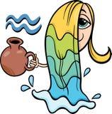 Aquarius zodiac sign cartoon Stock Images
