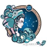 Aquarius. Zodiac sign Royalty Free Stock Photos