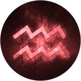Aquarius Zodiac Sign Isolated on white background royalty free illustration