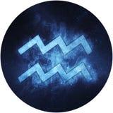 Aquarius Zodiac Sign Isolated on white background vector illustration