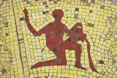 Aquarius. Zodiac sign in a mosaic style Royalty Free Stock Image