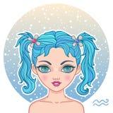 Aquarius zodiac sign Stock Images