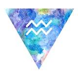 Aquarius zodiac sign Royalty Free Stock Image