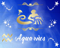 Aquarius zodiac star sign Stock Photo
