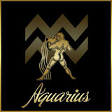 Aquarius zodiac star sign Royalty Free Stock Photography