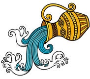 Aquarius zodiac Stock Images