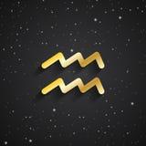 Aquarius zodiaka symbol Zdjęcie Stock