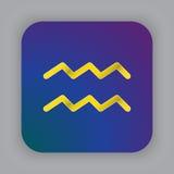 Aquarius zodiaka wektoru znak, horoskopu symbol, astrologia kreskowy ic Zdjęcie Royalty Free