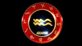 Aquarius zodiaka Zachodni symbol zbiory wideo
