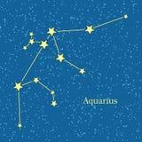Aquarius zodiaka znaka symbolu horoskop wektor Zdjęcia Royalty Free