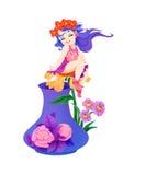aquariusbärare tolv water zodiac Royaltyfri Fotografi