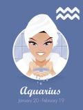 aquariusteckenvektor Royaltyfri Illustrationer