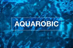 Aquarobic, forme physique sous-marine Image stock