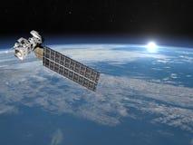 Aquasatellit - 3D framför Royaltyfria Foton