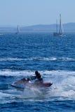 Aquascooter Imagen de archivo libre de regalías