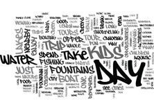 Aquasize To A Flatter Stomach Word Cloud Stock Images