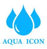 aquasymbol royaltyfri illustrationer