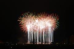 Aquatennial fajerwerki w Minneapolis obrazy stock