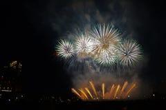 Aquatennial fajerwerki w Minneapolis zdjęcie stock