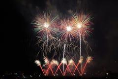 Aquatennial fajerwerki w Minneapolis fotografia stock