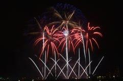 Aquatennial Fireworks in Minneapolis stock image