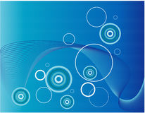 Aquatic abstract background. Abstract background with circles and waves Royalty Free Stock Photos