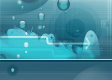 Aquatic background. SF aquatic- blue abstract background Royalty Free Stock Photography