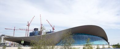 The aquatic centre in stratford. East london royalty free stock photography