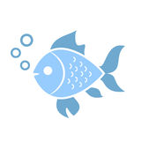 Aquatic fish vector icon Royalty Free Stock Images