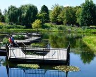 The Aquatic Garden Boardwalk royalty free stock photos