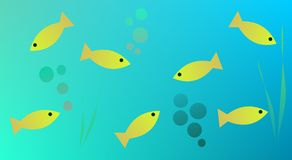 Aquatic Life. Abstract aquatic life is illustrated in this project Stock Photography