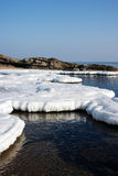 Aquatic nature, Ice floes in the sea. Stock Photo