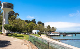 Aquatic Park in San Francisco. A view of Aquatic Park in San Francisco royalty free stock photos