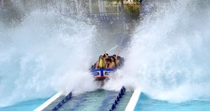 Aquatic roller coaster water splash Royalty Free Stock Photography